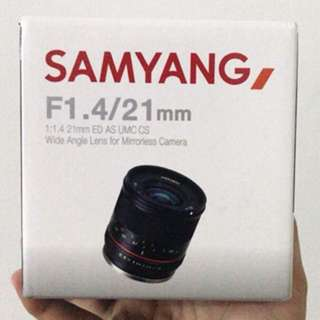 SAMYANG 21MM F1.4 ED AS UMC CS (SONY E-MOUNT)