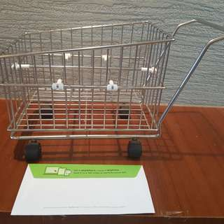 Mini shopping trolley for display