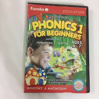 Exploring Phonics 1 for beginners CD-Rom video game