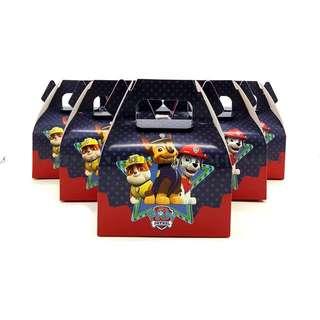 🐾 Paw Patrol Party Supplies - candy box / goodie box/ gift box/ party box