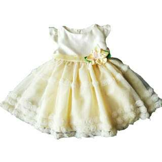 Yellow kids Tutu Dress
