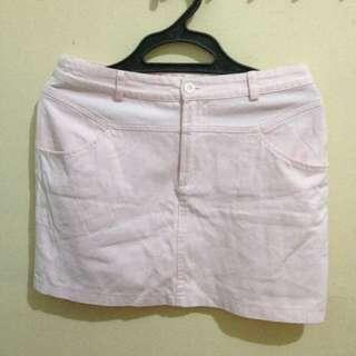 Baby Pink denim skirt