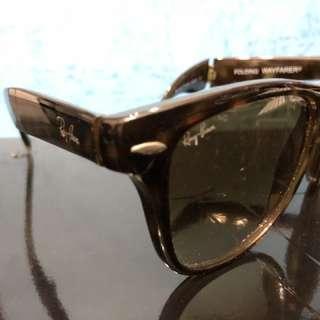 Ray Ban Wayfarer 玳瑁可摺太陽眼鏡 foldable sun glasses