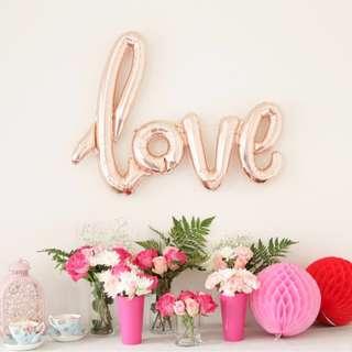 LOVE Foil Balloon   Rose Gold   Wedding
