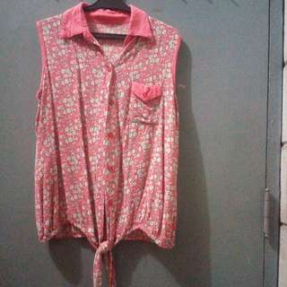 Pink button down too