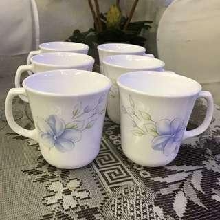 Corelle Mugs - 6 pieces