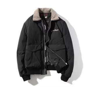 🇯🇵日系新款羊羔毛加厚飛機棉衣外套