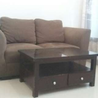 Sofa Set Big 2 Seater With Table