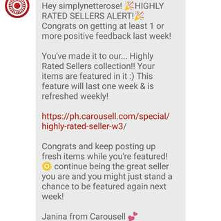 HIGHLY RATED SELLER for the 2nd time. 😊💕