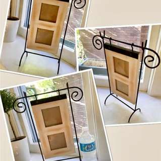 Really cool wooden/metal swing frame