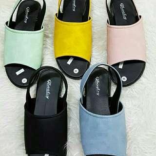 Sepatu sendal flipflop rainbow