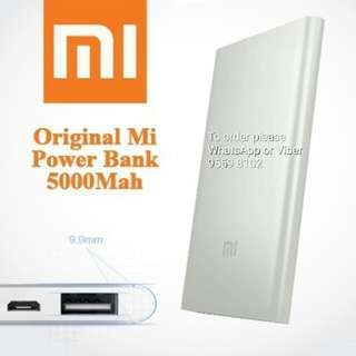 Xiaomi 小米 power bank 5000 mAh, silver