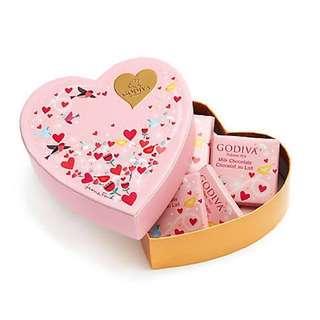 GODIVA情人節巧克力心形禮盒6片裝