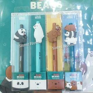 (包郵)🇰🇷We Bare Bears Pen 原子筆