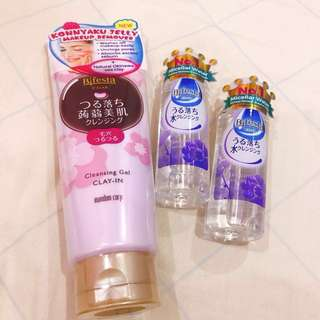 Bifesta cleansing gel and cleansing lotion