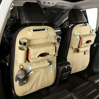 汽車內飾用品椅背置物袋座椅靠背收納袋多功能創意儲物袋車載掛袋