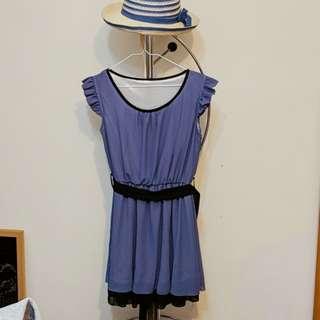 洋裝 紫羅蘭綁帶