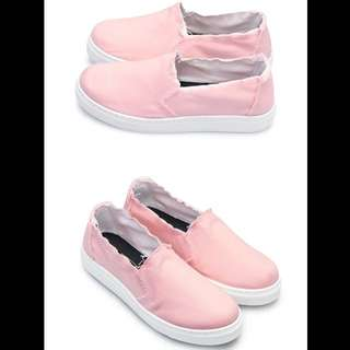 不修邊鬚鬚懶人鞋《富發牌》-粉色