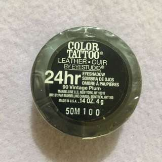 Maybelline Eye Studio Color Tattoo Leather 24HR in Vintage Plum