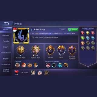 Mobile legend: bang bang account