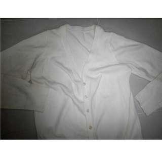 Nice material white cardigan