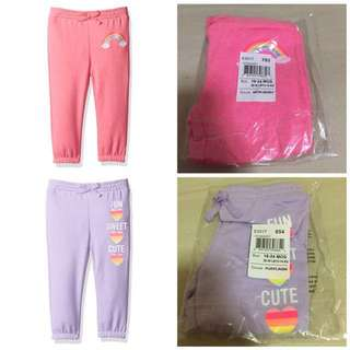 SALE 50% Off - 2 pieces $15 - 18-24 Mths BNWT The children's place baby girl pants.