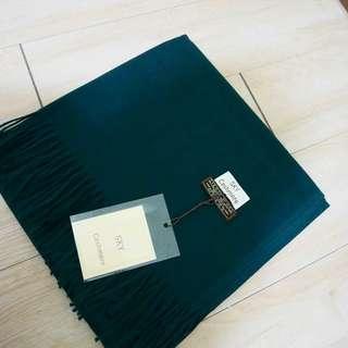 現貨/綠 仿羊絨厚實圍巾