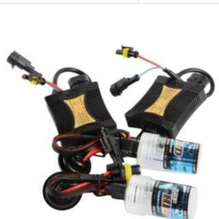 2x xenon HID light bulb + relay wire conversion kit + 2 x slim ballast  5000k H4 12v 36W