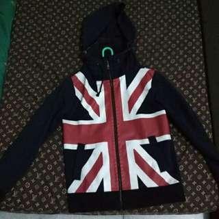 Zip hoodie brand apply union jack logo