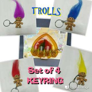TROLLS Keyring SET OF 4