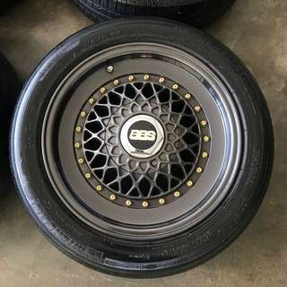 Rim BBS RS 15 inch with tyre