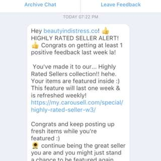 HIGHLY RATED SELLER! 🙈🎉🎊