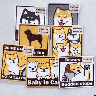 [PO] shiba inu car stickers