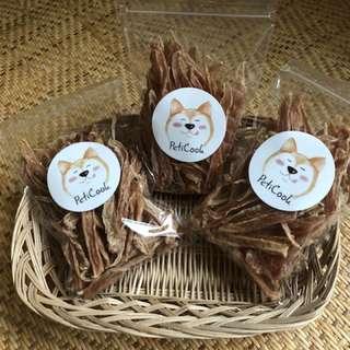 【Peticook】寵物手工零食 雞肉乾 100%純手作 毛孩訓練零食 犬貓零食 (預購下單)