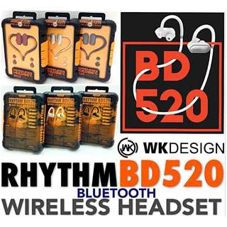 WK DESIGN (BD-520)🌐 RHYTHM Wireless Headset🎧