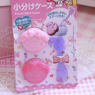 My Melody travel holidays mini cases cosmetics makeup