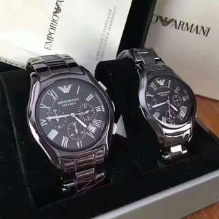 Authentic! Armani Watch !情侶陶瓷錶!手錶Ar1400 and Ar1401