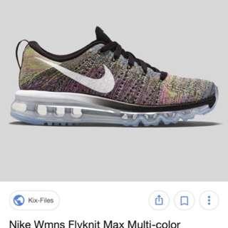 RRP $350 Flyknit multicolour Size 7.5 Nike sneakers
