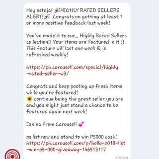 Thank You Carousell Team!