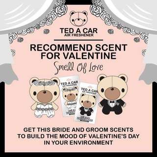 Bear with fragrance (Bride and Groom) Valentine Day