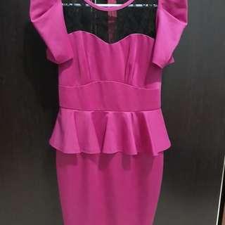 Sexy Dress Pink Fusi