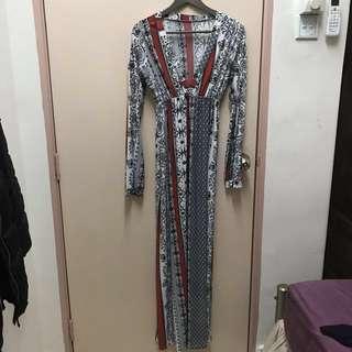 *Reduced* Multi-coloured maxi dress