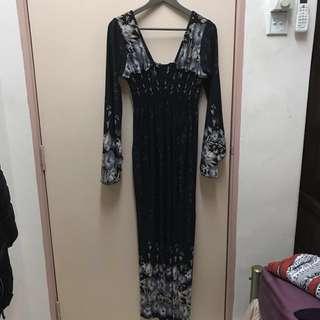 *Reduced* Black floral maxi dress