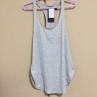 Cotton on gray sports Booty Tank Top