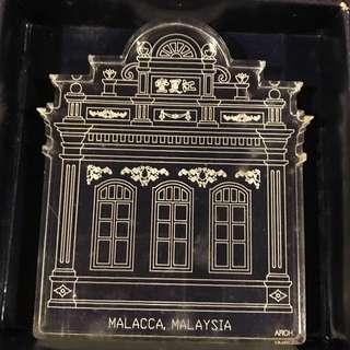 Laser engraved souvenir Malacca Malaysia ARCH