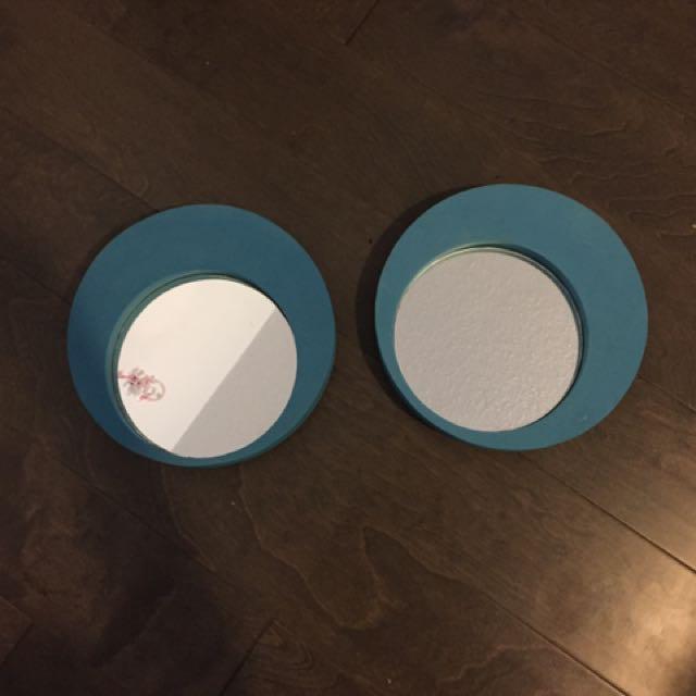 2 IKEA Foam Mirror Decor