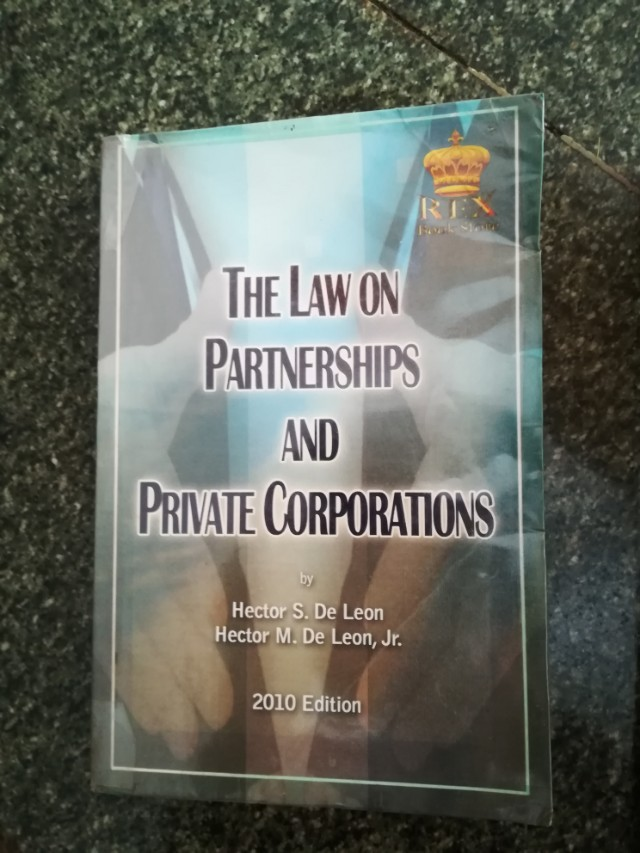 [Most popular] free download on law on partnership and corporation by hector de leon.zip 2