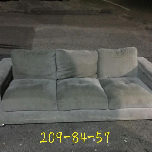 3人布沙發加ㄧ個腳凳