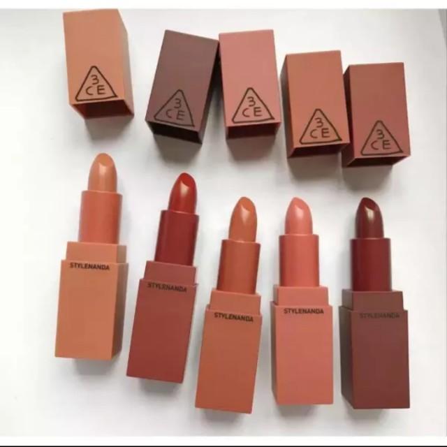 3ce Lip Colors Mini Kit Brown