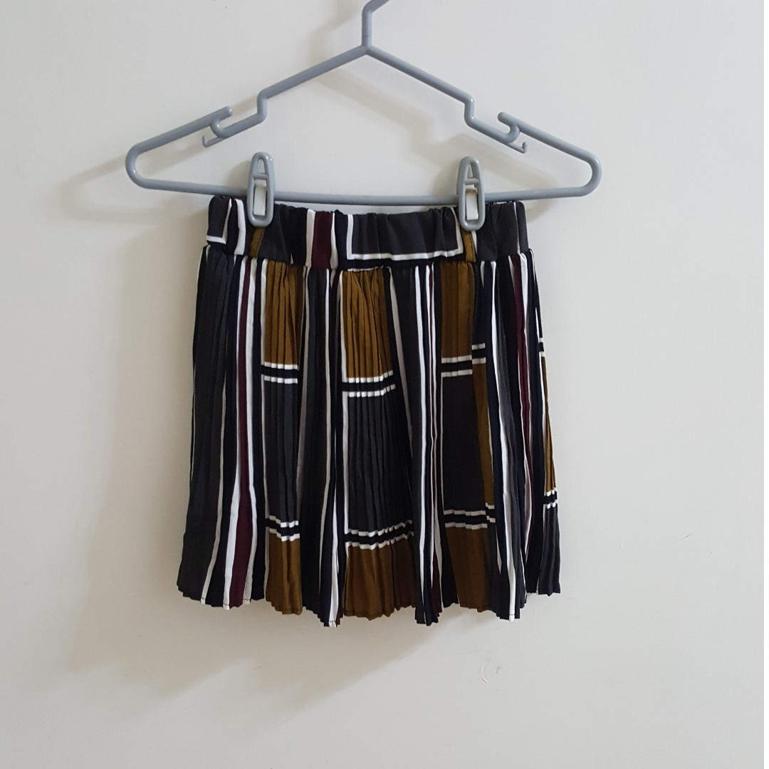 【全新】正韓學院風大地色百褶短裙